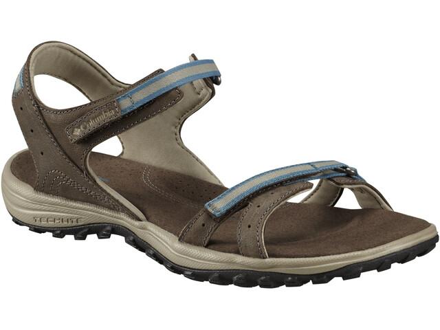 Columbia Santiam Sandals Women Mud/Canyon Blue